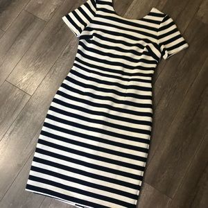 Boden Navy and white striped dress 12